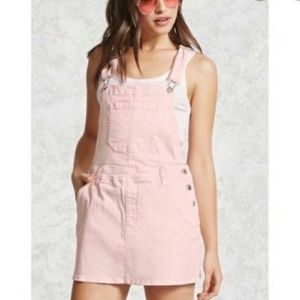 FOREVER 21•Pale pink bib overall dress•sz.29/8